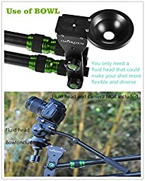 IMORDEN 6.5ft/2m Mini Carbon Fiber Jib Arm(holds up to 8lbs) Camera Jib Crane With 1kg3pcs Counterweight Carrying Bag, Bowl for 75~100mm Tripod Head and Quick Release Plate(1/4\'\' Screw)