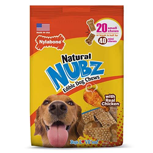 Nylabone Nubz Natural Edible Dog Chews, Small, 20 Count