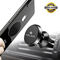 Magnetic Car Phone Mount,Celeir Universal Air Vent Cell Phone Holder 360 Degree Rotation for iPhone X / 8 / 8 Plus / 7 / 7 Plus / 6s / Pixel 2 / Galaxy S8 / S7 / S6 / Light Tablets and more