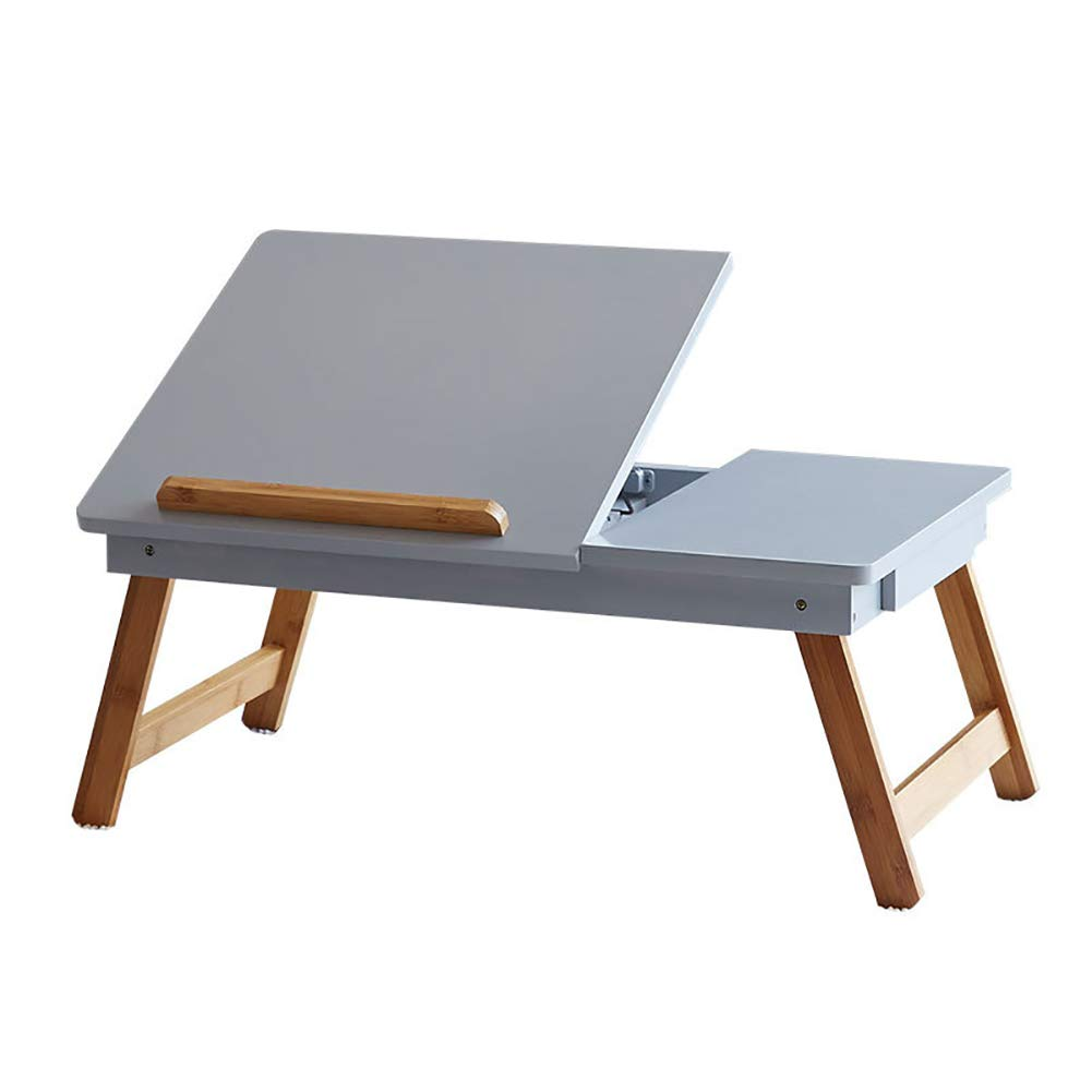 Yajun Bed Tray Foldable Laptop Table Stand Fashion Notebook Holder Beautiful Mini Computer Desk with Drawer Breakfast Reading Bracket