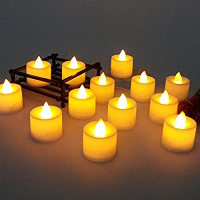 Sekishun-cho Battery-powered Flameless LED Tealight Candles - The Perfect Decoration 24 Pack