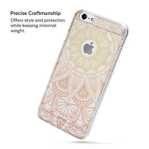 iPhone 6s Hülle, iPhone 6s Case klar, iPhone 6s Fall Mandala, GMYLE Snap Cover Glossy für iPhone 6 / 6s (Orange Mandala)