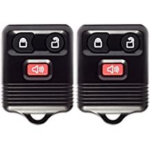Keyless Entry Remote 3 Button Control (2 Pack) with Chip and Battery - Alarm, Trunk, Lock and Unlock Key Fob Clicker Transmitter