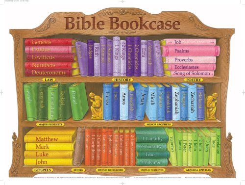 Bible Bookcase wall chart- LAMINATED