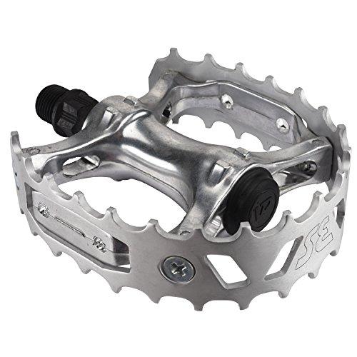 SE Bear Trap BMX Bike Pedals SILVER (Bmx Bike Silver)