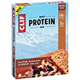 CLIF Whey Protein - Snack Bar - Salted Caramel Cashew - 1.98 Ounce, 8 Count