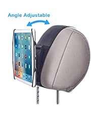 WANPOOL Car Headrest Mount Holder with Angle Adjuster for 7-10.5 Inch Tablets and 4.5 – 6 Inch Phones