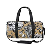 Halloween Thanksgiving Autumn Fall Maple Leaves Sports Gym Handy Duffel Bag