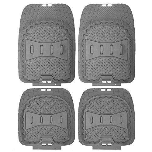 Mats Cabriolet Audi Floor Custom (Motorup America Auto Floor Mats (Set of 4) - Fits Select Vehicles Car Truck Van SUV - Gray)