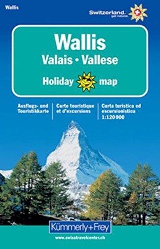 Wallis Holiday Map 1 : 120 000. Ausflugs- und Touristikkarte (Kümmerly+Frey Holiday Map)
