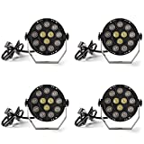 par can led lights - Donner Led Par Can Light DMX Lighting Stage Spotlight, DMX512 DJ Effect Light for KTV Bar Party 4-Pack DL-6
