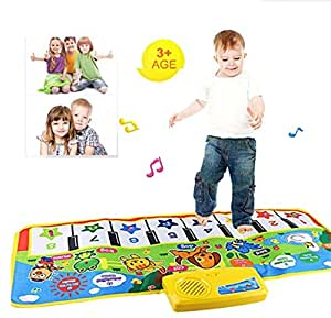 FULLIN Music Carpet Kids Baby Touch Play Keyboard Musical Music Singing Gym Carpet Mat Best Kids Baby Gift