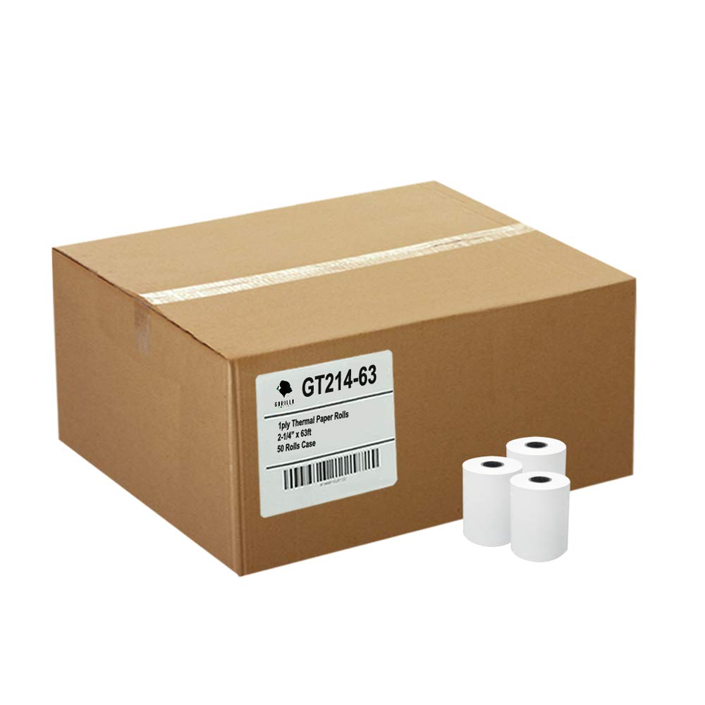 (50) Thermal Paper Rolls 2-1/4 X 63 Ingenico ICT 200 220 250 FD400 Vx520 by Gorilla Supply