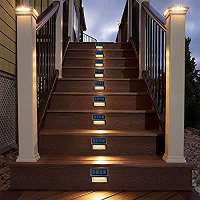 Solar LED Lights for Deck Steps Pathway Yard Stairs Fences, Outdoor Waterproof, 6 Pack