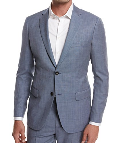 Theory Mens Two ButtonHalf Lined Wool Blazer Jacket Blue (Lined Wool Blazer)