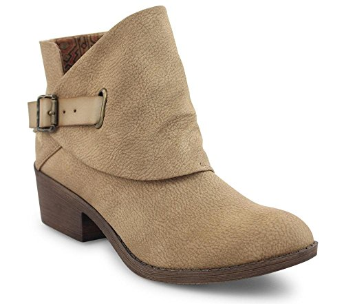 Blowfish Womens Sill Ankle Bootie Taupe 8.5 CxlvbaWa