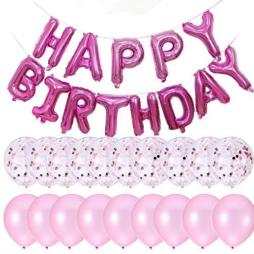 PartyMart Pink Happy Birthday Balloon Confetti -
