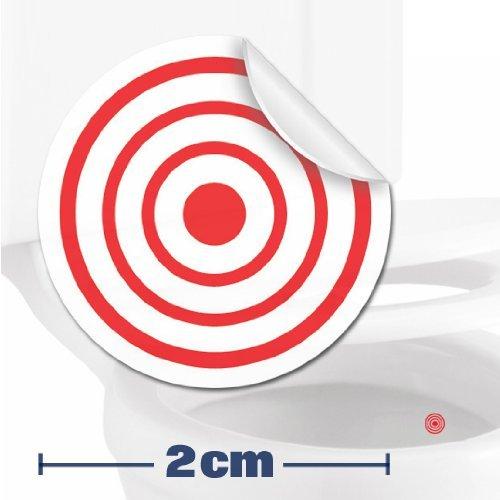 10 x pegatinas con diana (2cm) Ayuda para que los niños aprender a ir al baño. Divertido entrenamiento para usar el inodoro en el cuarto de baño. Toilet Marksman TM-TARGET-10