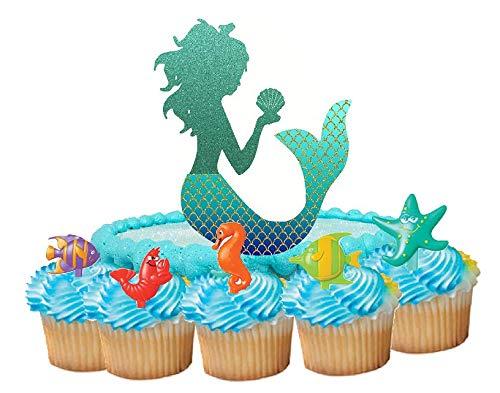 Cake/Food/Cupcake/Appetizer/Desert Decorating Topper Decorations (Mermaid Cake Topper)