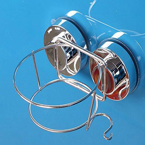 Hair Dryer Holder, Sundarling Stainless Steel Double Vacuum Suction Cup Hair Dryer Holder Home Bathroom Wall Mounted Lock