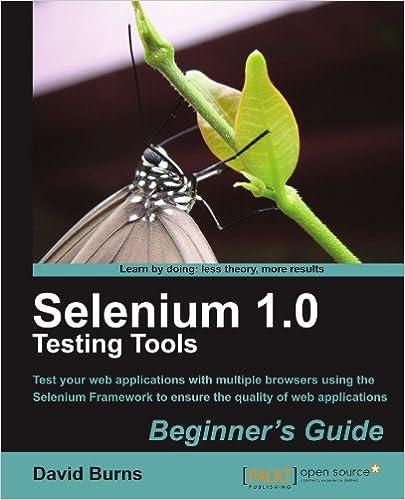 Download Selenium 1 0 Testing Tools Beginners Guide By David Burns