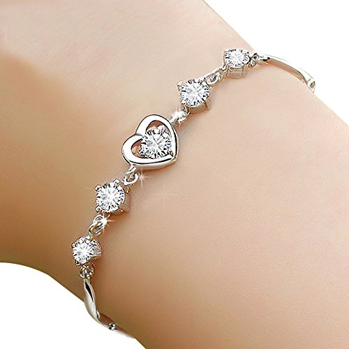 huiyin-jewelry-s925-sterling-silver-romantic-heart-shape-diamond-women-bracelet-19cm-with-extended-c