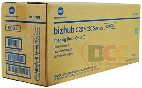 (Genuine Konica Minolta IU312C Cyan Imaging Unit for Bizhub C20 C30P C31P A0310GG)