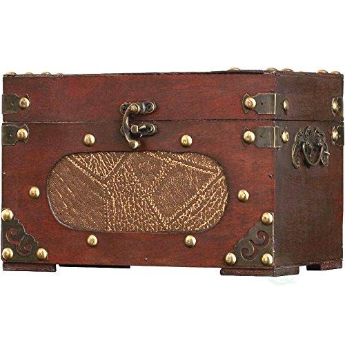 Vintiquewise(TM) Treasure Chest/Decorative Box, Small (Wicker Treasure Chest)