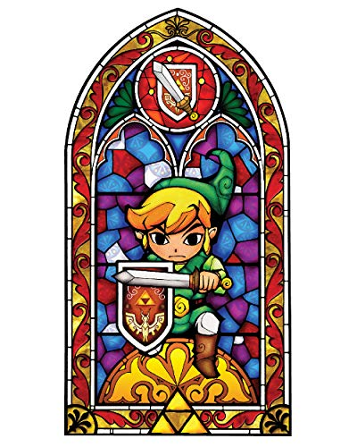 BLIK Zelda Wind Waker Sword Stained Glass Removable Wall Decal | Officially Licensed Nintendo Art | Easy Peel and Stick Design | 22.5 x 42.5 Inches