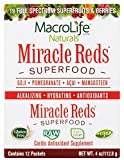 Organic super food supplement with probiotics Miracle Reds Superfood fruit amp veggie drinks powder with ingredient list of vital digestive enzymes polyphenols vitamins amp minerals for all day energy Discount