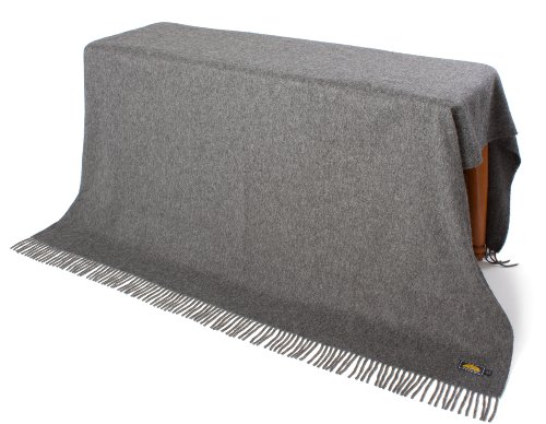 Price comparison product image NOT A COUNTERFEIT - AUTHENTIC ALPACA Throw Blanket - COZINESS Guaranteed by the Best Natural THERMAL MANAGEMENT: Never Too Warm or Cold, ALWAYS CUDDLY! - Premium Quality (Grey - One color)