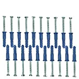 Count of 20 New Retails Silver Metal Dry Wall Screw with Anchor 2''L