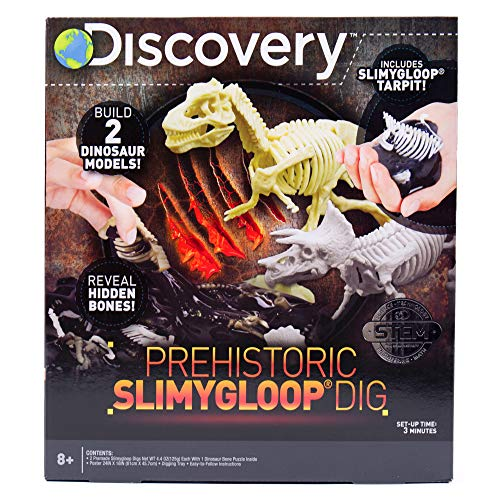 Discovery Prehistoric Slime Dig by Horizon Group USA, Dig Through Gooey Slime Putty & Excavate Dinosaur Bones