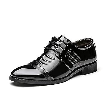 WEIIN Zapatos de Cuero Hombre Oxford Zapatos De Cuero De ...