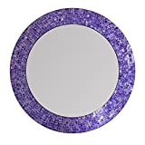 DecorShore 24″ Mosaic Wall Mirror in Ultra Violet – Purple Decorative Wall Mirror (Ultra Violet) For Sale