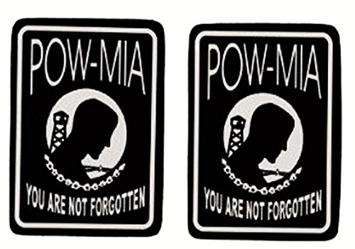 Helmet Leathers Sticker Hot (Hot Leathers, 2 x POW MIA - Small, Bikers Motorcycle Helmet, Sticker DECAL (Pair) - 3