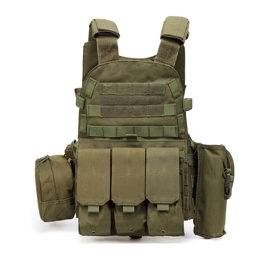 LXY&AI Adult Tactical Vest - Airsoft Paintball Shooter - Jagdfeld Vest Adjustable Armee Sturmweste - Abnehmbare Tasche Außen Jungle - Schwarz