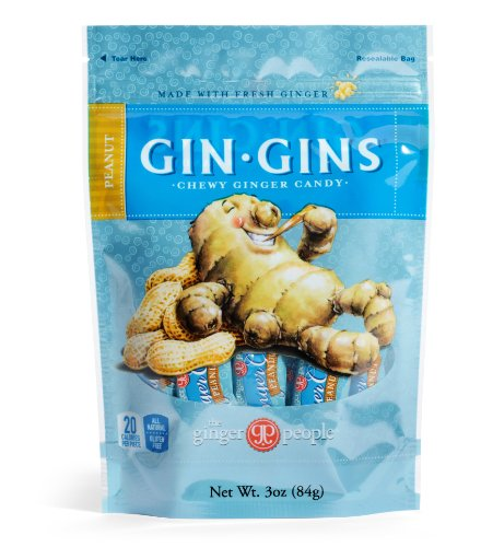 The Ginger People Peanut Ginger Chews 3-Ounce Bag