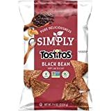 Simply Tostitos Sea Salted Black Bean Chips, 7.5 Ounce