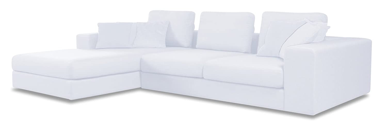 Sofa-Eckgarntur PINE in einem Baumwoll-Leinen-Gemisch Stoff Shadow weiß