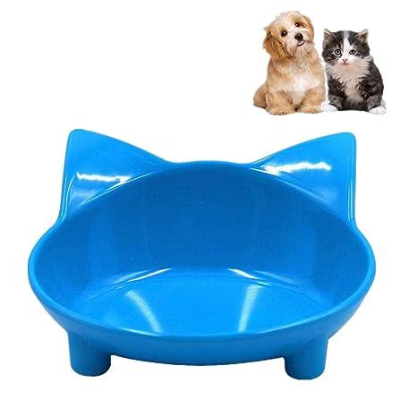 VANUODA Cuencos para Gatos, comedero para Mascotas y Agua, Antideslizante, diseño de Forma