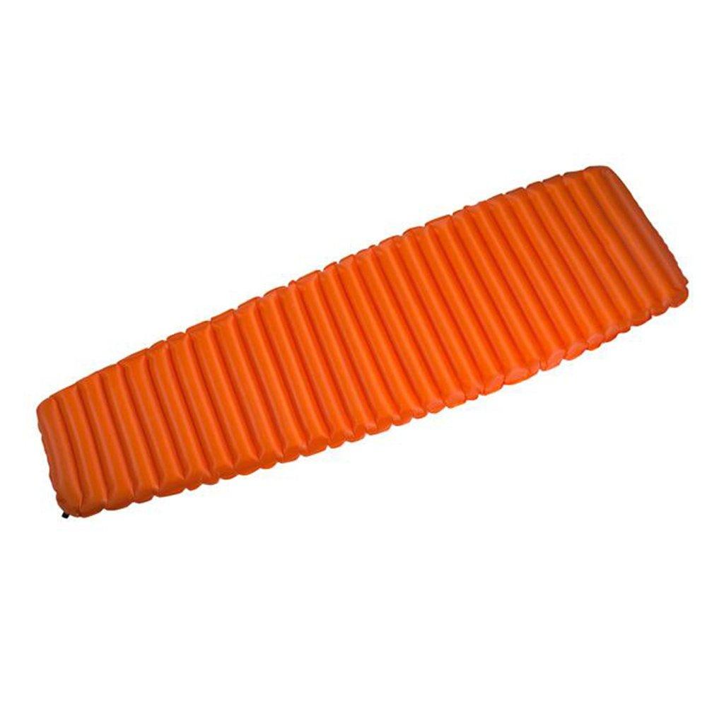 ANHPI Im Freien Automatische Aufblasbare Einzelne Schlafenauflage-Leichtes Tragbares Bergsteigen-Feuchtigkeits-Auflage-Isolierungs-Auflagen-kampierendes Zelt-aufblasbare Matratze,Orange