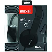 Maxell 290103 Solids Headphones - Black