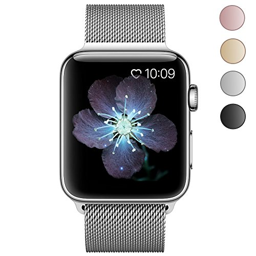 BRG Fully Magnetic Clasp Mesh Loop Milanese Stainless Steel Metal iWatch Band for Apple Watch Series 2 Series 1 Sport and Edition