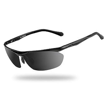 Gafas de Sol Gafas De Sol Medio Marco Polarizado Luz ...