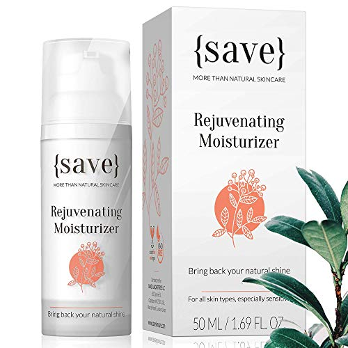 Face Cream, Sensitive Moisturizer, Natural Moisturizing Cream, Anti-Aging, Anti-Wrinkle Support for Sensitive Dry Skin, Fragrance and Paraben Free 1.69 Fl. Oz.