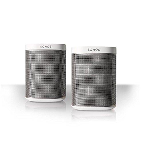 Sonos PLAY:1 2-Room Wireless Smart Speakersfor Streaming Music - Starter Set Bundle (White)