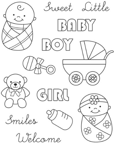 Karen Foster Design Clear Stamp Set (Baby Girl Clear Stamps)