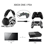 SADES SA810 PS4 Gaming Headset Stereo Bass Multi-Platform Gaming Headphones with Microphone Noise Isolating Volume Control for PC New Xbox One PlayStation 4 Laptop Mac(Camouflage)