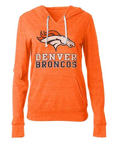 (New Era Denver Broncos Women's Playoff Tri-Blend Pullover Hoodie Large)